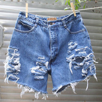 Ruff Hewn Distressed Denim Cutoffs