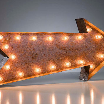 "Vintage Marquee Lights - Arrow 36"" long"