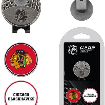 NHL Chicago Blackhawks Hat Clip & 2 Magnetic Golf Ball Markers