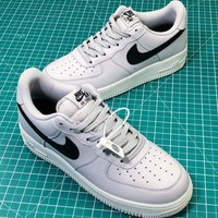Nike Air Force 1 Low Crest Logo AF1 Sport Shoes Sneakers - Best Online Sale