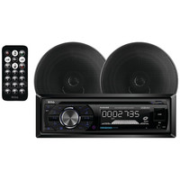 BOSS AUDIO 656BCK Single-DIN In-Dash AM/FM/CD Receiver System with Bluetooth(R) & Speakers
