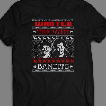 HOME ALONE THE WET BANDITS CHRISTMAS UGLY SWEATER T-SHIRT