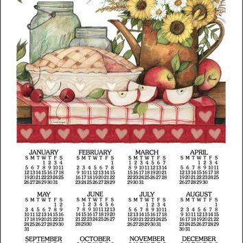 Calendar Towel 2020 - Apple Pie