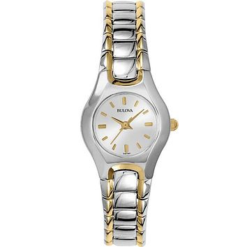 Silver Dial Bulova Ladies Watch - Two-Tone -  Bracelet