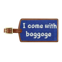 Baggage Needlepoint Luggage Tag in Royal by Smathers & Branson