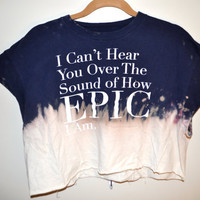 "dip dyed ""epic"" crop top"