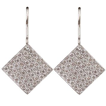 Irene Neuwirth small diamond shaped earrings
