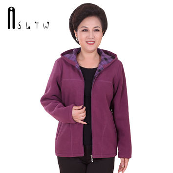 Mother's Coat 2016 Super Warm Winter Jacket Coat Ladies Women Jacket Warm Fleece Women Jacket