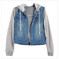 Jean Jackets Hooded Coat Outwear