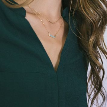 Jada Mint Bar Necklace
