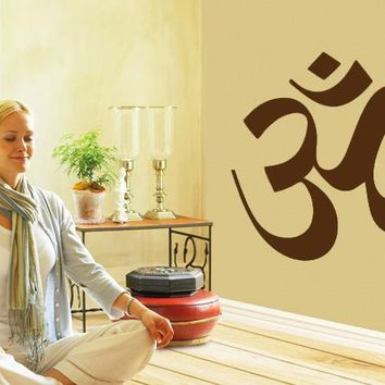 Om Meditation DIY Removable Art Vinyl Quote Wall Sticker Decal Mural Home Decoration For Living Room/Bedroom