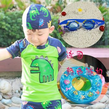 Childrens Swimsuit Cute Children's Swimwear Little Boys  for Children s with Shorts Hat Boys Swimming Suit Kids 12 Months 2-8 Years Old KO_25_2