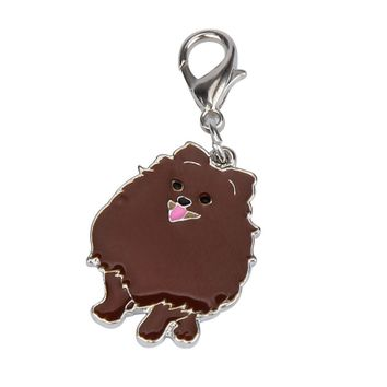 Pomeranian Dog Tag Disc Disk Pet ID Enamel Accessories Collar Necklace Pendant Aug4