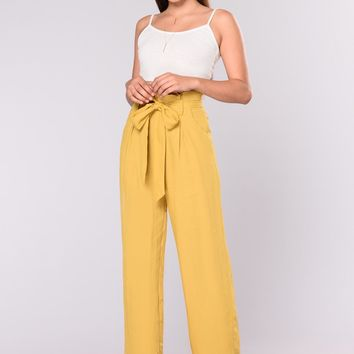 Street Ready High Waist Pants   Mustard