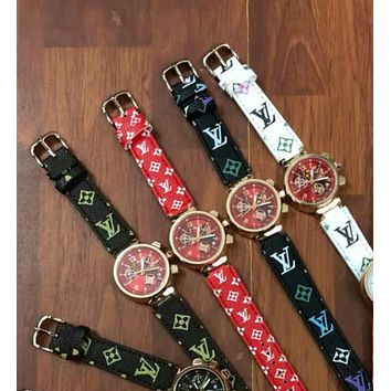 Louis Vuitton men's and women's fashion watches B-JYXCX-YB Colorful