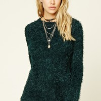 Fuzzy Knit Sweater Top
