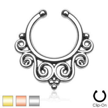 Tribal Swirls Septum Hanger (Non-Piercing)