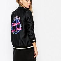 French Connection Dreams Are Free Bomber Jacket