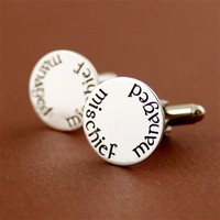 Mischief Managed Cuff Links - Spiffing Jewelry