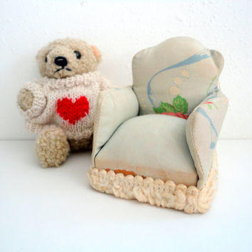 Dollhouse Chair miniature chair fabric handmade doll chair Made of cotton
