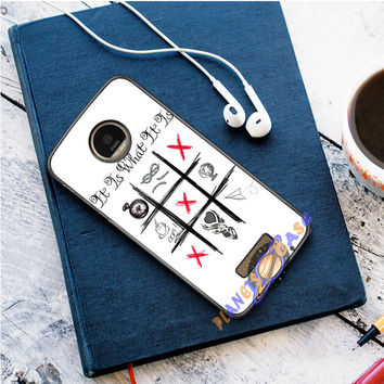 One Direction Louis Tomlinson Tattoos Motorola Moto Z case Planetscase.com