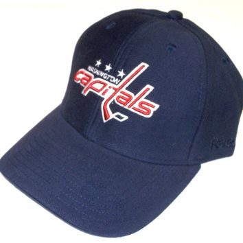 Reebok Washington Capitals Hat Structured Adjustable Cap, Choose Team Colors