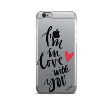 Clear Plastic Phone Case - I'm in love with you - iPhone 5/5s/SE, 6, 7