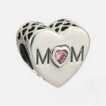Pandora Charms Mothers Hearts Pink CZ Charm Bead Authentic Pandora