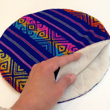 Tortilla Warmer - Tortillero - Tortilla Keeper - Bread Keeper - Mexican Fabric - Royal blue