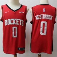 2019-2020 Houston Rockets 0 red Russell Westbrook Swingman Jersey