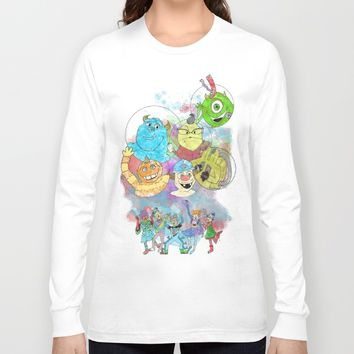 Disney Pixar Play Parade - Monsters Inc Unit Long Sleeve T-shirt by Joey Noble