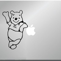 Pooh Leaning Computer Skin Apple Sticker Laptop Sticker Macbook Decal Computer Sticker Macbook 13 Inch Vinyl Decal Sticker Skin Cover Computer Sticker Computer Decal Decal Mac Decal for Mac Laptop Sticker Laptop Decal Newest Version Macbook Pro Laptop Quot