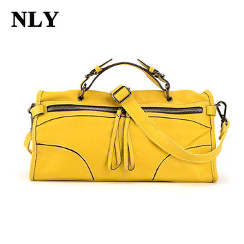 2017 spring summer fashion genuine leather women baguette handbag Shoulder Crossbody bag