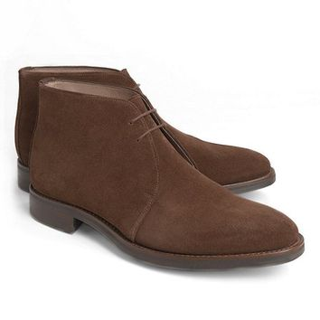 Peal & Co.® Brown Suede Chukka Boots - Brooks Brothers