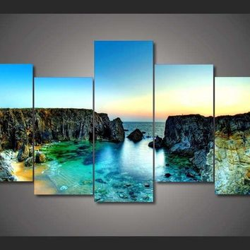Hidden Tropical Paradise 5-Piece Wall Art Canvas