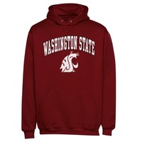 Mens Cardinal Washington State Cougars Arch Over Logo Hoodie