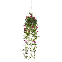 "30"" Petunia Hanging Basket Artificial Plant"
