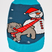 Dog Ugly Christmas Sweater - Tug O' War