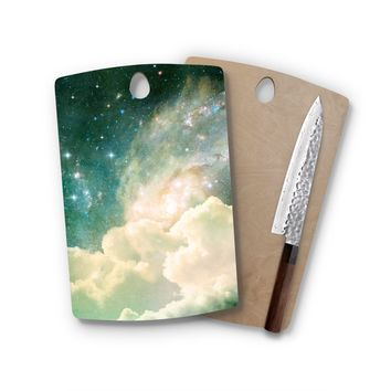 Clouds In Space Rectangle Cutting Board Trendy Unique Home Decor Cheese Board