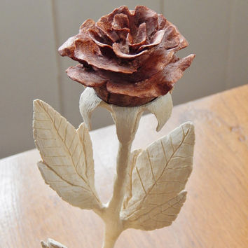 Wood Rose Wood Carving Wedding Gift  Anniversary Gift Wood Anniversary  Birthday Gift: carved  memento of a special  life event  that lasts