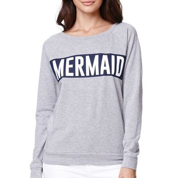Young Romantics Mermaid Crew Fleece - Womens Hoodie - Grey
