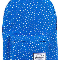 The Classic Backpack in Cobalt Polka Dot
