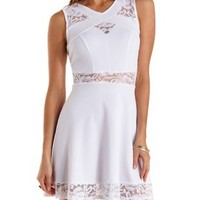 Lace Cut-Out Crossover Skater Dress by Charlotte Russe