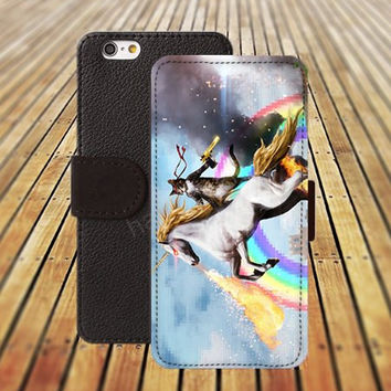 iphone 5 5s case cat unicorn iphone 4/4s iPhone 6 6 Plus iphone 5C Wallet Case,iPhone 5 Case,Cover,Cases colorful pattern L357