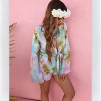 THE FESTIVAL PLAYSUIT- BLUE TIE DYE