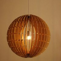 Free Shipping Modern Designer Wooden Ball Chandeliers Pendant Lamp Lighting Fixtures Living Room Bedroom Home Decoration