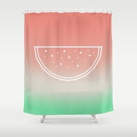 Watermelon Shower Curtain by eDrawings38