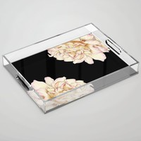 Roses - Lights the Dark Acrylic Tray by drawingsbylam
