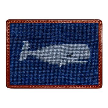 Whale Credit Card Wallet in Navy by Smathers & Branson