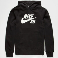 Nike Sb Icon Mens Hoodie Black  In Sizes